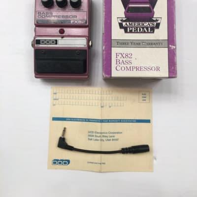 DOD Digitech FX82 Bass Compressor Rare Vintage Guitar Effect Pedal + Box for sale