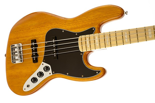 Squier Vintage Modified Jazz Bass 77 Amber Reverb