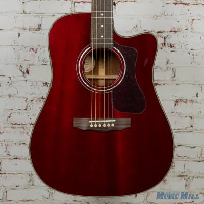 Guild D-120CE Acoustic Electric Guitar Cherry Red MSRP $1,115 for sale