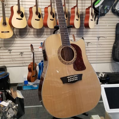 Washburn Heritage Seires HD10SCE12 12-String Acoustic/Electric Dreadnought Cutaway Guitar Natural