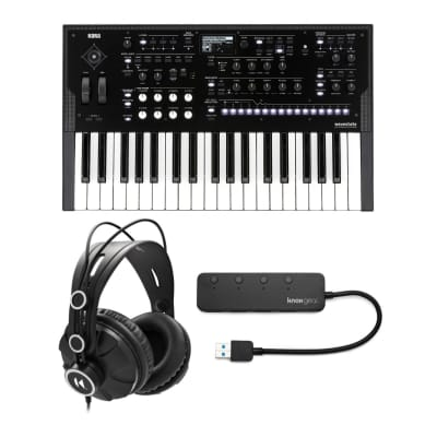 Korg Wavestate Wave Sequencing Digital Synthesizer Bundle with Headphones