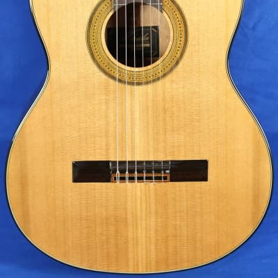 Merida Trajan T-5 Natural Cedar Top Mahogany Classical Nylon Acoustic Guitar for sale