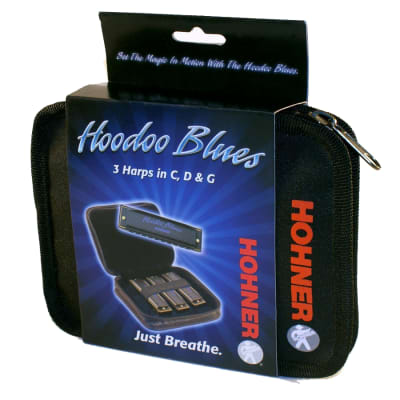 Hohner HBP Hoodoo Blues 3 Pack Includes Key of C, D, G