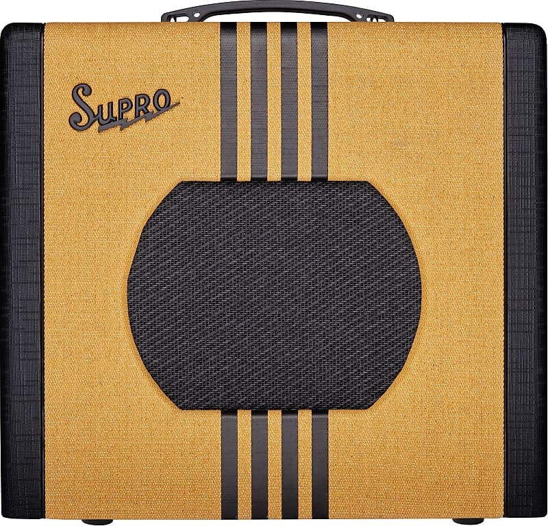 Supro 1820RTB Delta King 10 5W 1x10'' Guitar Tube Combo Amplifier Tweed & Black
