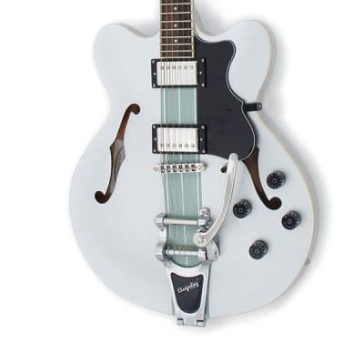 Höfner Verythin Ltd Edition Metallic Silver E-Gitarre Semi-Hollow