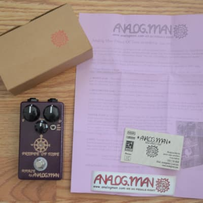 Analogman Prince Of Tone Overdrive w/ box & swag 2016 Purple for sale
