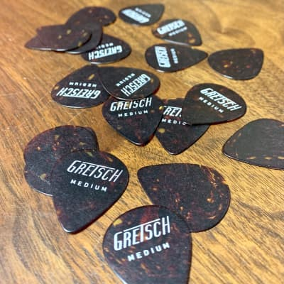 Gretsch Guitar picks c 1960's Tortoise shell medium original vintage USA