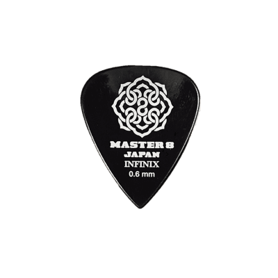 Master 8 Japan Infinix 351 Guitar Picks Thin 0.6mm 6-Pack