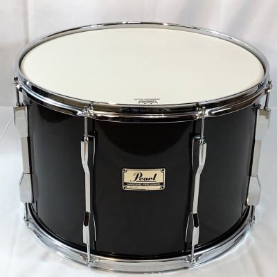 """Pearl PTD-812N Pipe Band Series 12""""x18"""" Tenor Drum, Black Mist Lacquer (New Old Stock, early 2000's)"""