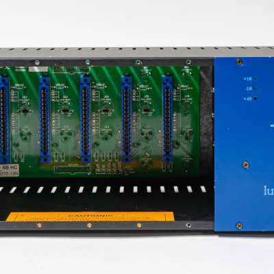 API 500-6B 6 Slot 500 Series Lunchbox Empty Chassis with Built-in Power Supply & Rack Ears