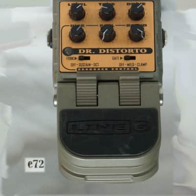 72/10  LINE 6 DR. DISTORTO FEEDBACK AND DISTORTION EFFECTS PEDAL