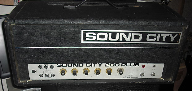sound city 200 70s vintage valve bass amplifier guitar amp reverb. Black Bedroom Furniture Sets. Home Design Ideas