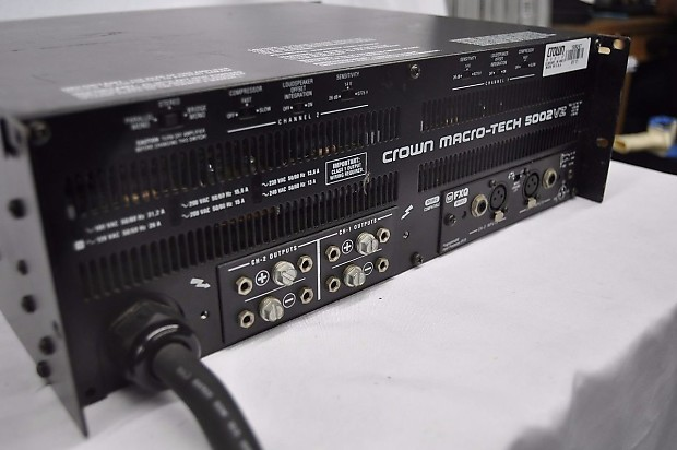 crown macro tech ma5002vz power amplifier 4512 reverb. Black Bedroom Furniture Sets. Home Design Ideas