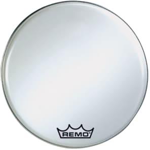 "Remo Ambassador Smooth White Crimplock Bass Drum Head 28"""
