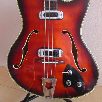 Musima GDR Semi-Hollowbody Bass 1960s 2-tone sunburst very rare for sale