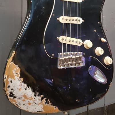 Fender Custom Shop Master Built Todd Krause '56 Relic Active Stratocaster, Black for sale