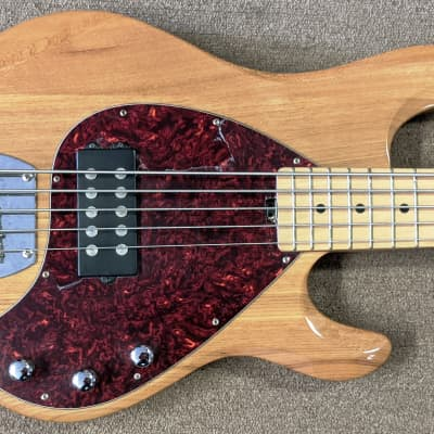 "OLP MM3 5 String Bass Licensed By Music Man, Natural, Humbucker Pickup, 34"" Scale for sale"