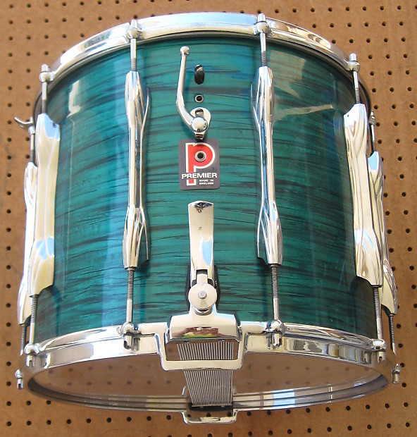 Premier Pipe And Drumcorp Marching Dual-Snare Drum Green Marble