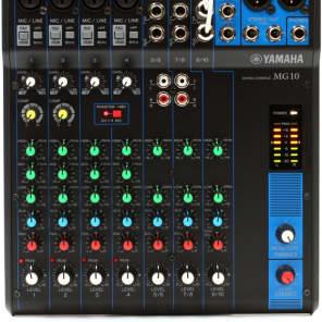 af55902b9a Yamaha MG10 10-Channel Analog Mixer with Gator
