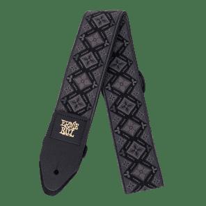 Ernie Ball Regal Black Jacquard Guitar Strap 4093 New