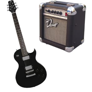 Peavey SC2 Electric 6 String Dual Pickup Guitar Black Finish with PVAMP20 Practice Amp for sale