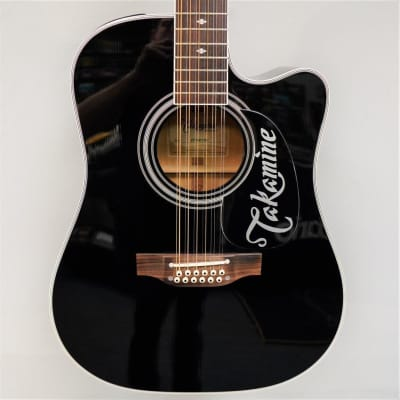 Takamine Legacy EF381SC Acoustic-Electric Guitar - Black