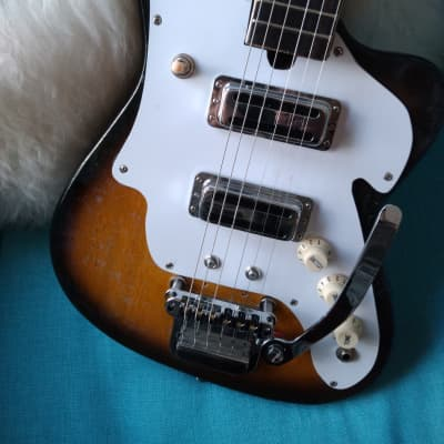 Rescued and Restored 1960s VintageTeisco ZenOn Audition Guitar  Sunburst Finish (See Note) for sale