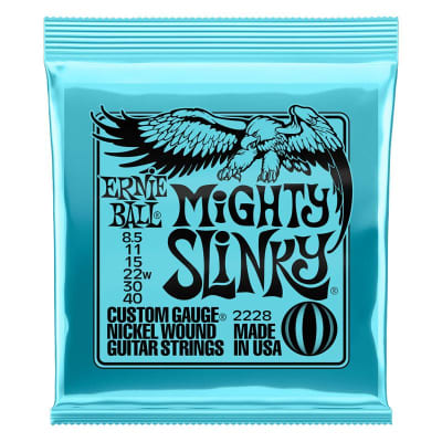 Ernie Ball Mighty Slinky Nickel Wound Electric Guitar Strings, 8.5-40