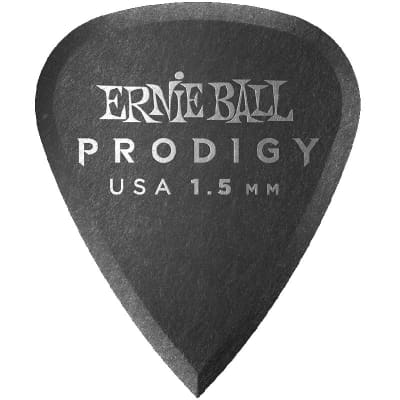 Ernie Ball Prodigy Picks - 1-1/2 mm, Standard, Black, 6 Pack for sale