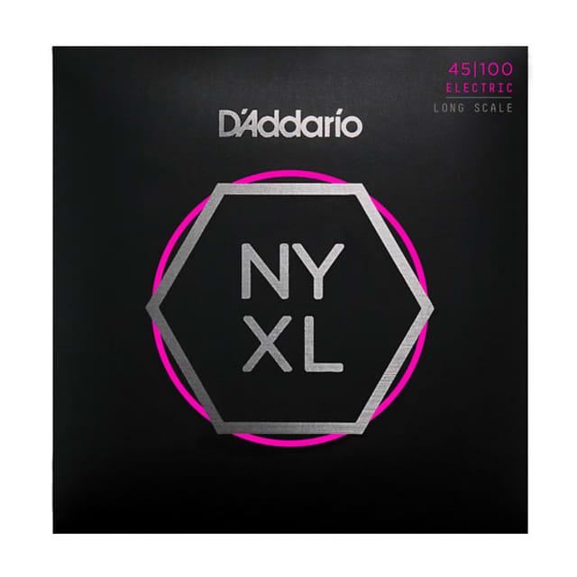 D'Addario NYXL45100 Set Long Scale, Regular Light, Bass Strings 45-100 image