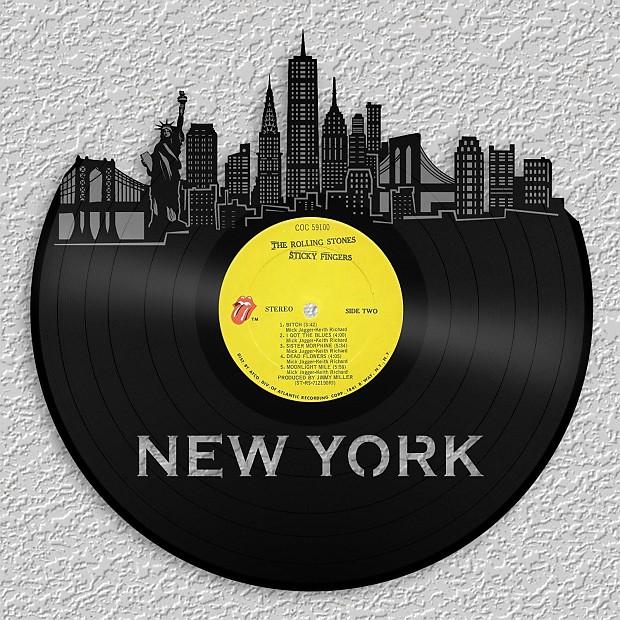 New York City Skyline Wall Art Updated - Silver / Framed | Reverb