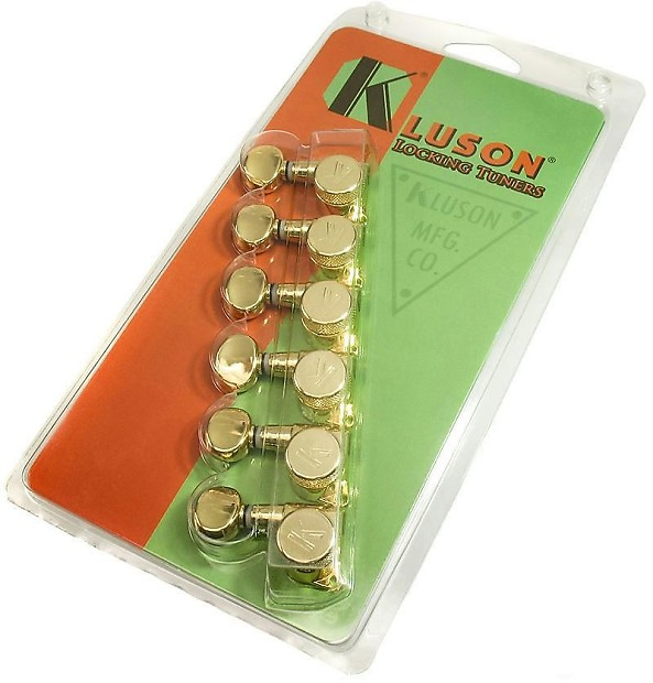 kluson 6 in line locking guitar tuners gold left handed reverb. Black Bedroom Furniture Sets. Home Design Ideas