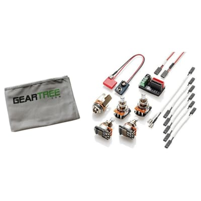 EMG 1 or 2 Pickup Active Solderless Conversion Wiring Kit w/ Geartree Cloth