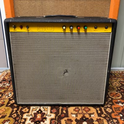 Vintage 1970s Carlsbro 50 Top 50w Combo Amplifier Amp w/ Power Tone 60 Speaker for sale
