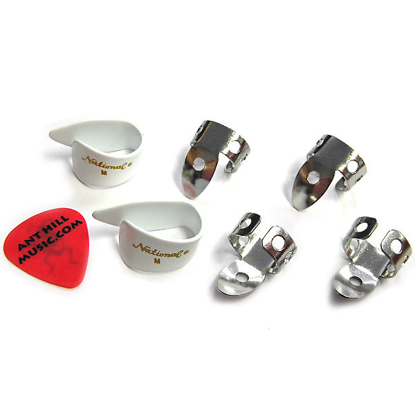 national finger picks np1 national thumb picks set white reverb. Black Bedroom Furniture Sets. Home Design Ideas