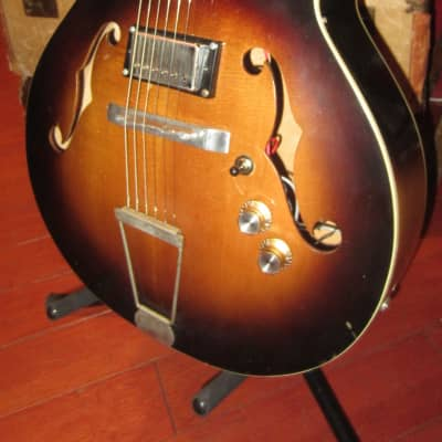 Vintage 1960's Kay N-3 Archtop Acoustic Electric w/ Added Humbuckers for sale