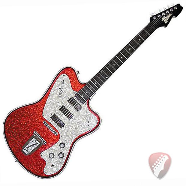 italia modena classic electric guitar in red sparkle reverb. Black Bedroom Furniture Sets. Home Design Ideas