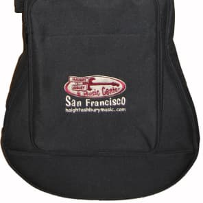 Levy's Polyester Classical / Folk Acoustic Guitar Gig Bag, Haight Ashbury Music Logo Embroidered for sale
