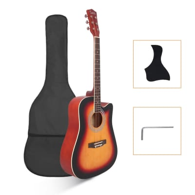 Glarry GT502 Dreadnought Folk Guitar Acoustic Guitar With Bag Sunset for sale