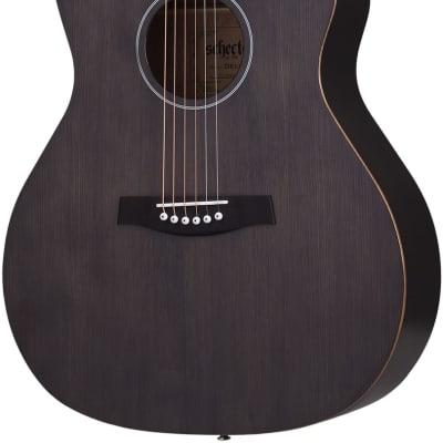 Schecter Westerngitarre, Deluxe, See-Thru Black Satin for sale