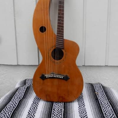 Knutsen 11 string harp guitar 1912 natural for sale