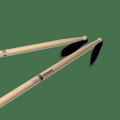 Pro-Mark TXPR5BW Classic 5B Pro-Round Wood Tip (Pair) Drum Sticks