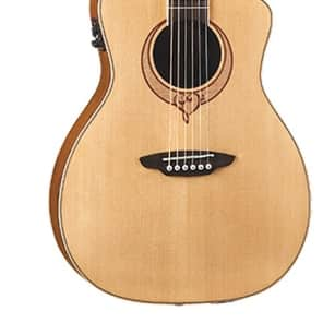 Luna Guitars Heartsong Series Acoustic-Electric Guitar, Parlor, SONG PAR for sale