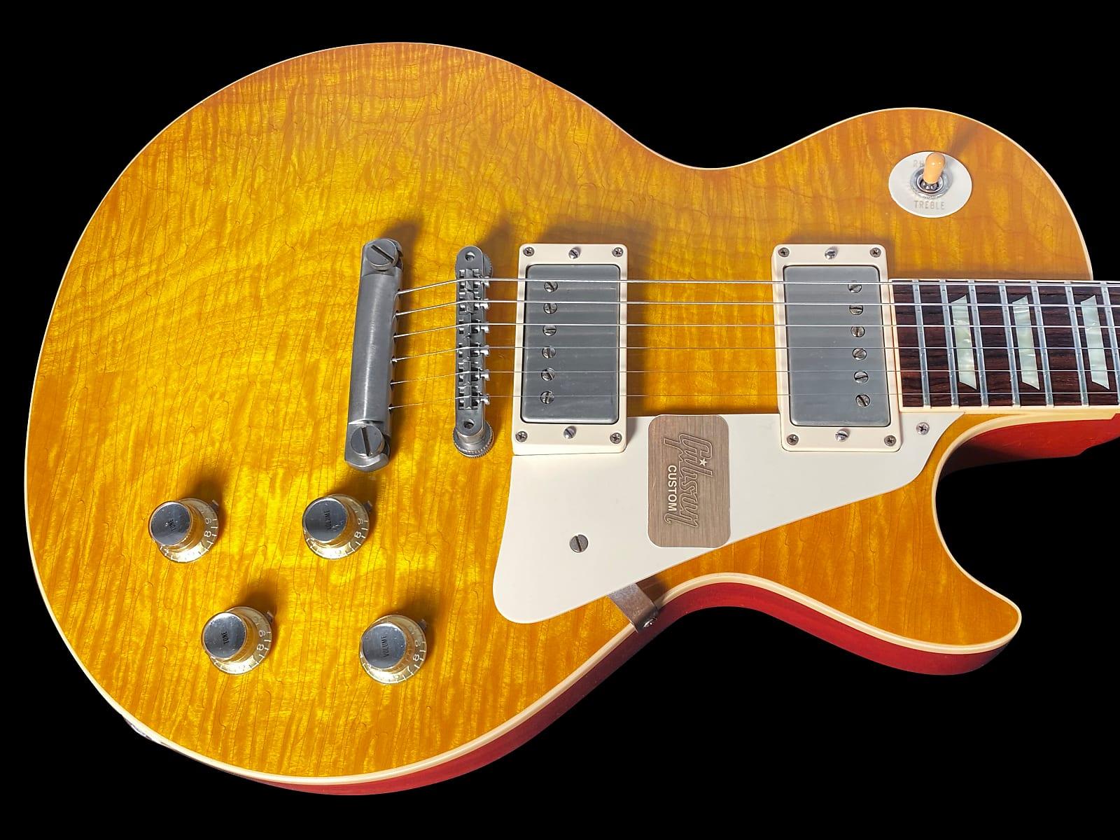 2012 Gibson Les Paul 1960 Historic 60 Custom Shop R0 Murphy Aged with Madagascar Rosewood Board ~ Lemon Burst