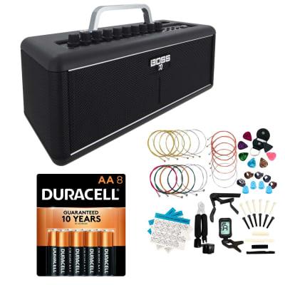 Boss Katana Air - Wireless Guitar Amp with Boss WL-T Transmitter, Duracell AA 8 Pack, LOMEVE Guitar Accessories Kit Bundle for sale