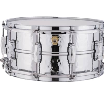 "Ludwig LM402K Hammered Supraphonic 6.5x14"" Aluminum Snare Drum"