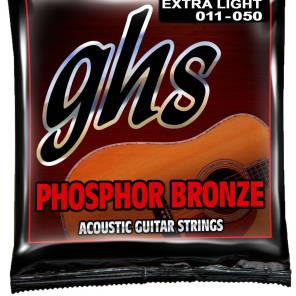 GHS S315 Phosphor Bronze Acoustic Guitar Strings - Extra Light (11-50)