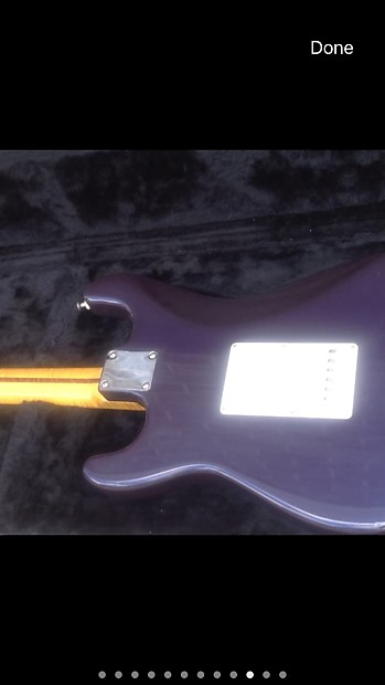 Bill Crook Purple Burst Flame top Stratocaster