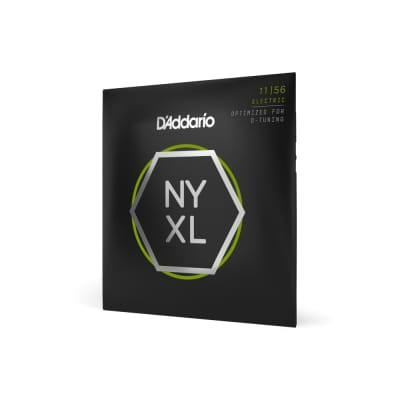 D'Addario NYXL - Nickel Wound NY Steel Core Electric Guitar Strings - Medium Top/Extra Heavy Bottom (11-56)