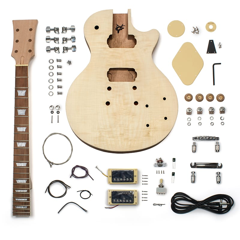 stewmac lp style electric guitar kits flame top stewmac reverb. Black Bedroom Furniture Sets. Home Design Ideas
